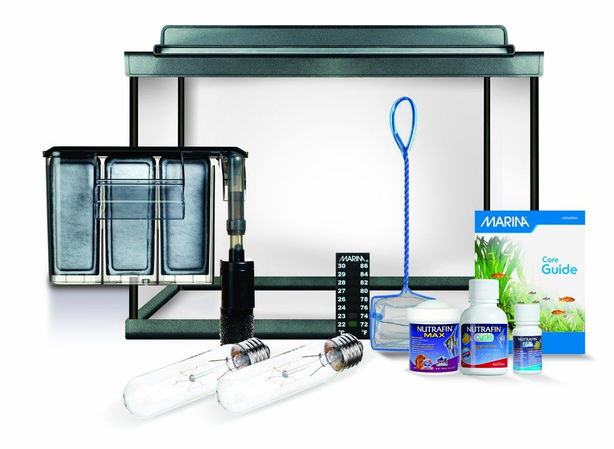 Aquarium fish tank starter kit - Marina Style 10 Deluxe Aquarium Kit 10 Gallons Aquariums Gifts For Fish Lovers