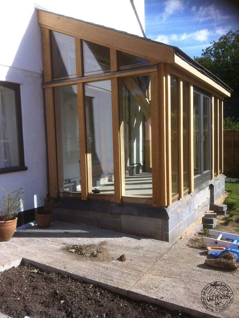 Timber frame lean to extensions for Garden room lean to