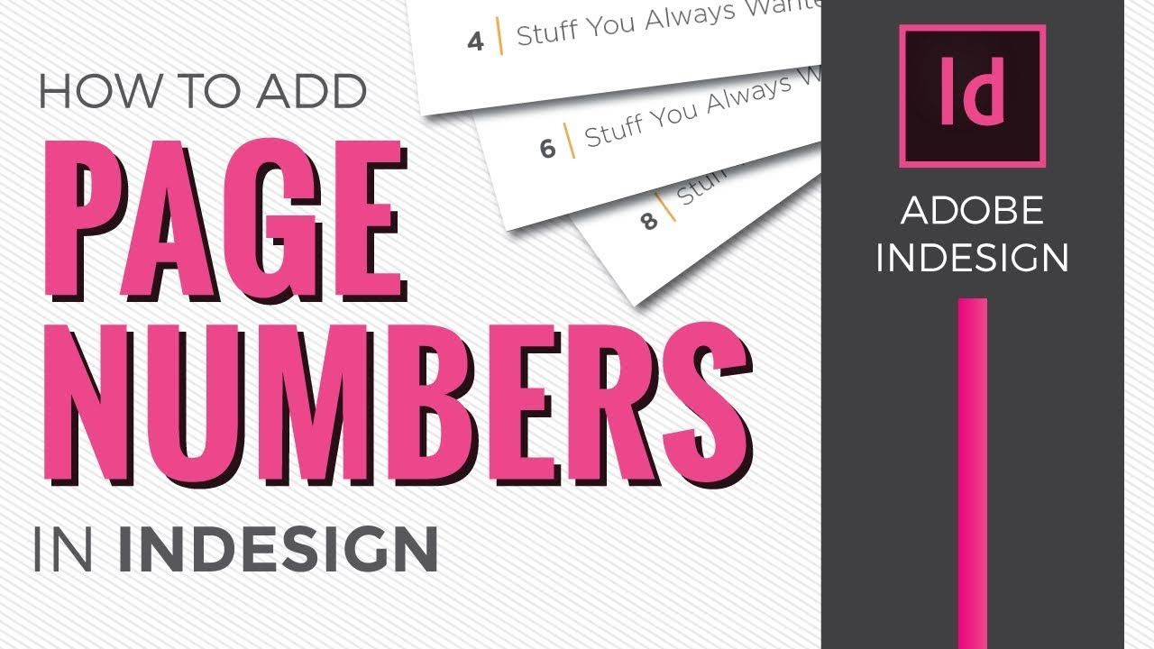 Page Numbers In Indesign Cc 2018 How To Add Using Master Pages Indesign Adobe Indesign Indesign Tutorials