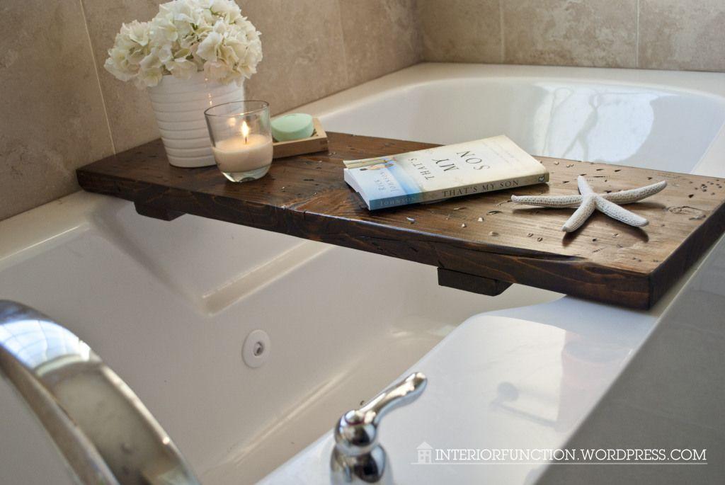 DIY - Bathtub Tray | Bathtub tray, Bubble baths and Bathtubs