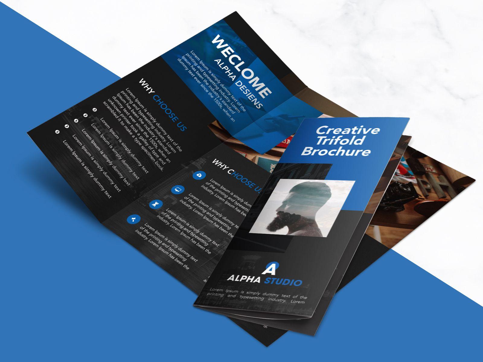 tri fold brochure psd template creative agency trifold brochure free psd template