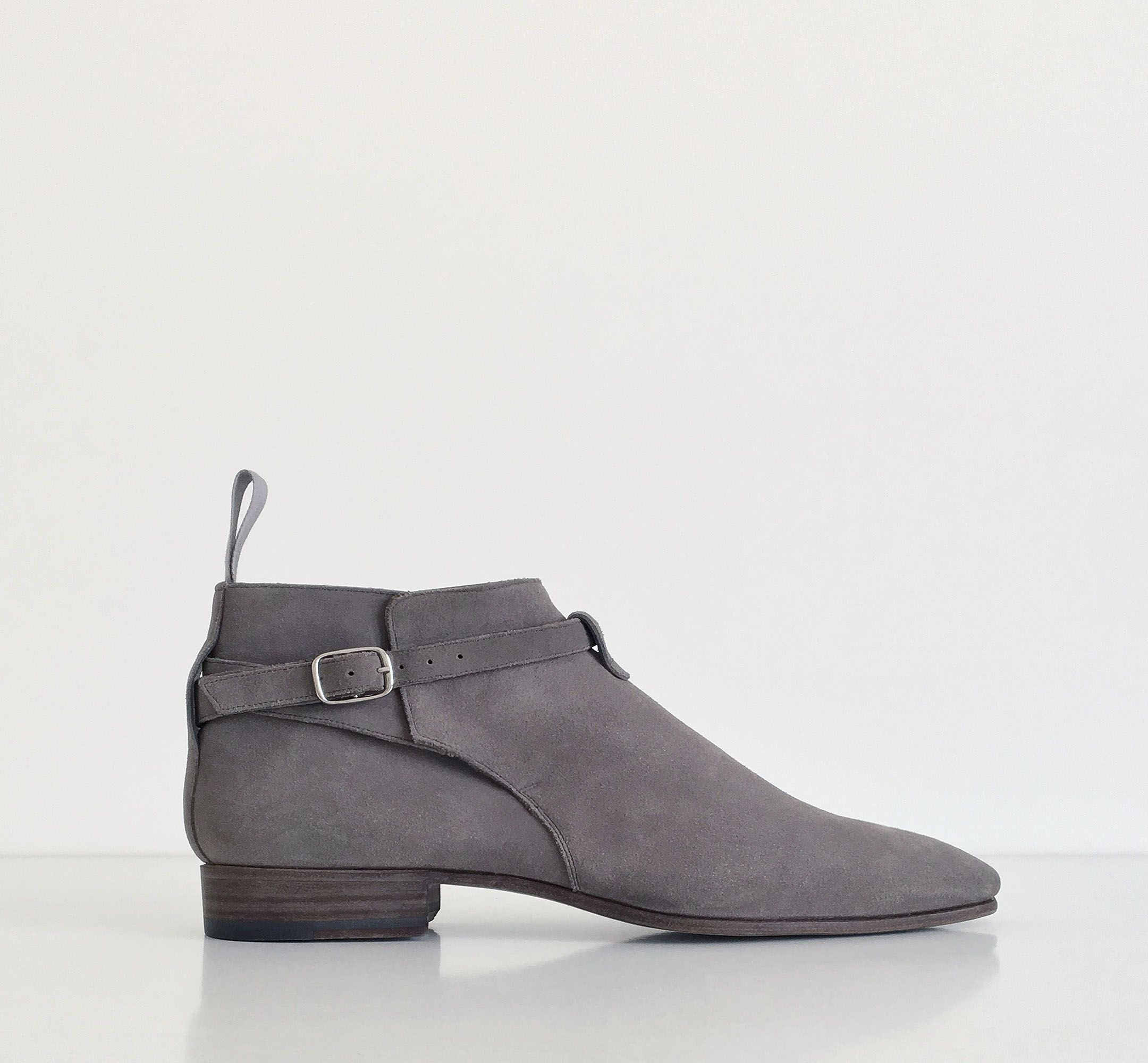 Leather shoes · 331 Grey Calf Suede MTO | Story Et Fall