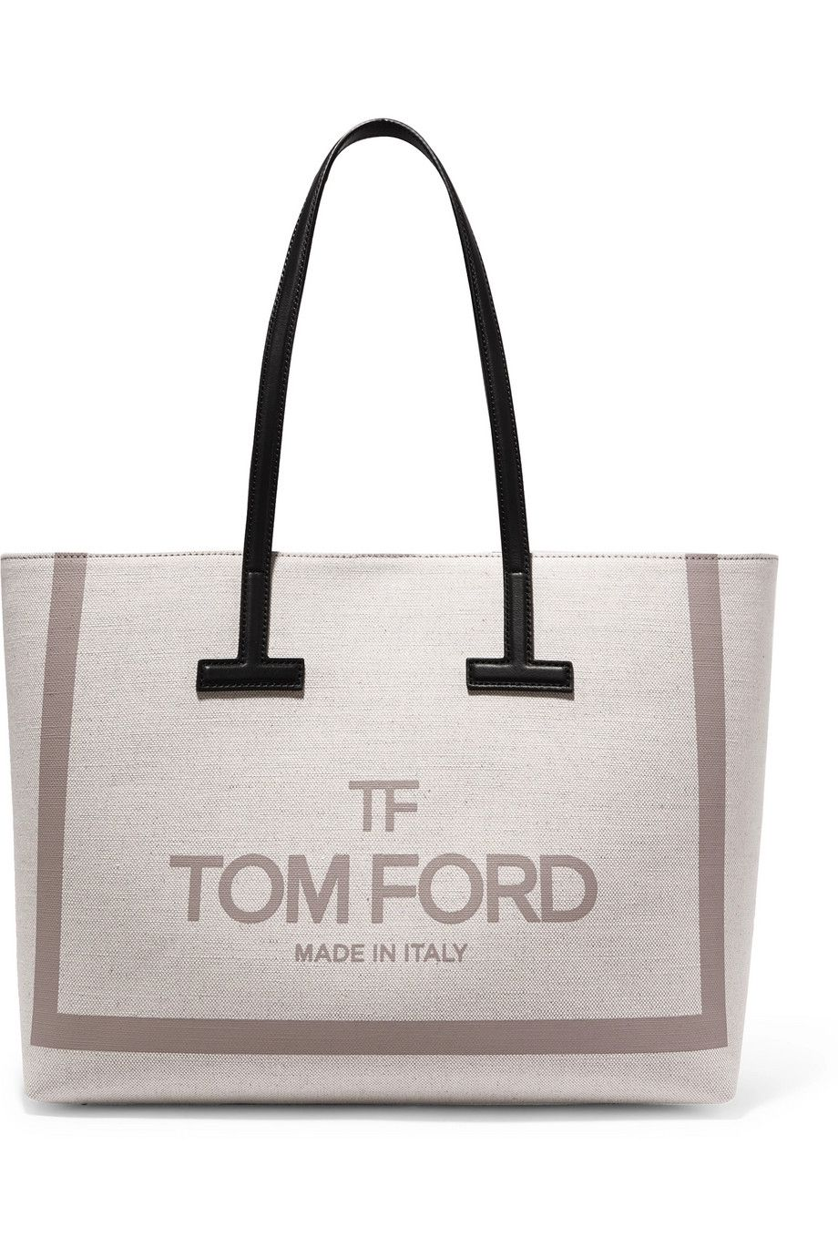 be3078c6d12f7 TOM FORD   T medium leather-trimmed printed cotton-canvas tote   Bag ...