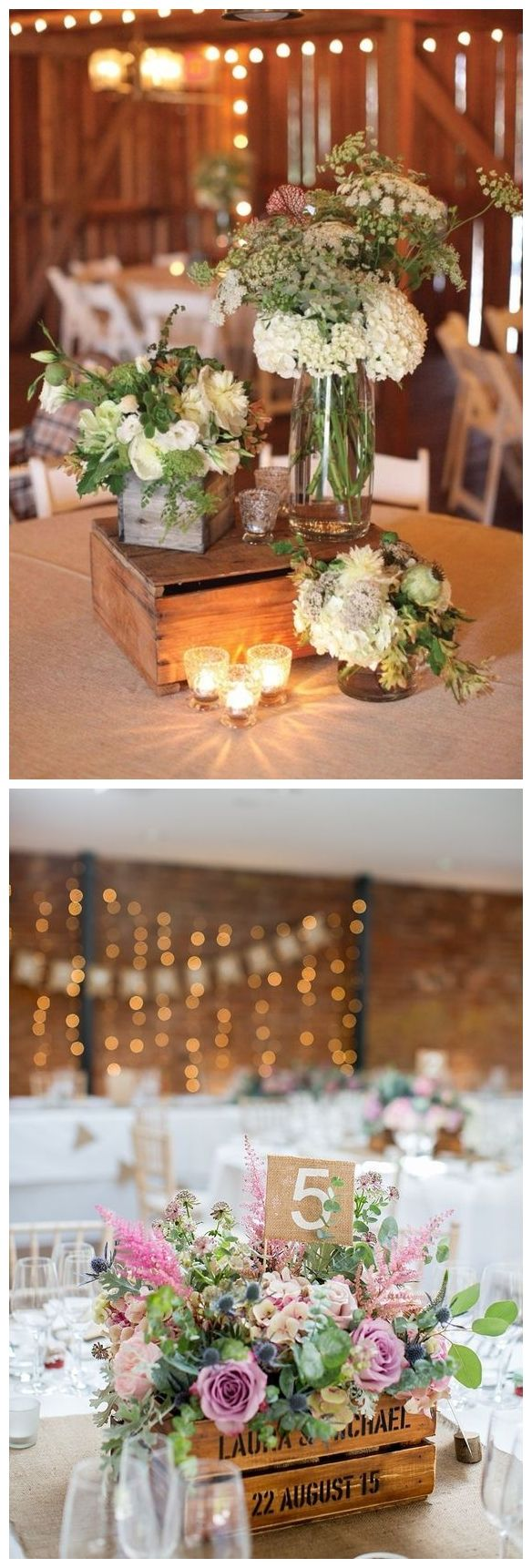 Wedding reception wedding decorations 2018 november 2018 Rustic Woodsy Wedding Trend  Wooden Crates  Wedding