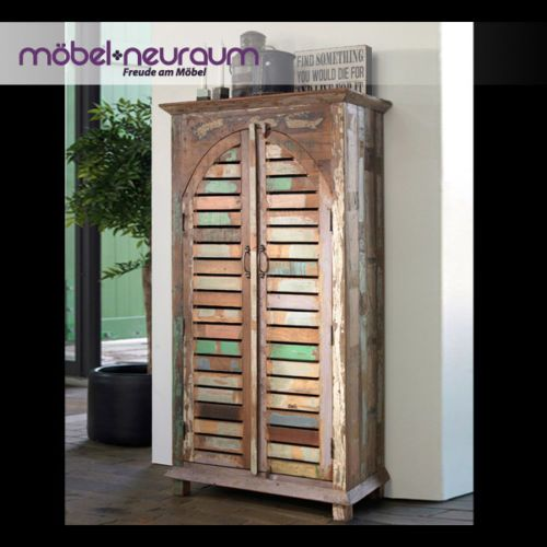 Garten Antik Massiv Er Fsc Teak Holz Flur Landhaus Vintage Hoch Schrank Kommode Dekorasyon