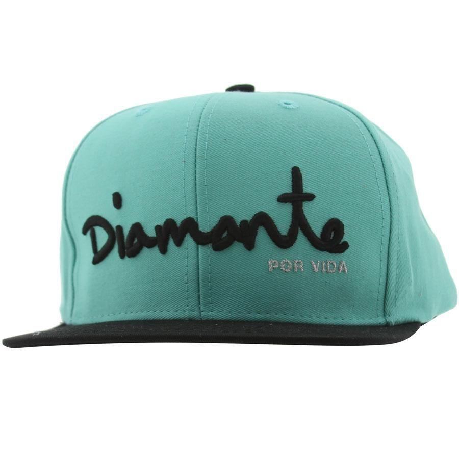 Logo 6 Panel Snapback Cap - Black Diamond Supply Company VbDTSsm