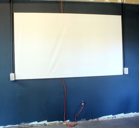 DIY Projector Screen for less than $20 -   Projector screens, Wooden ...