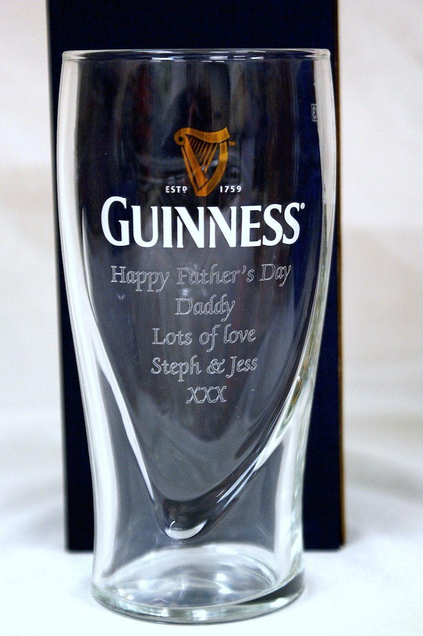 Engraved guinness glass pint glass gift grandad gift