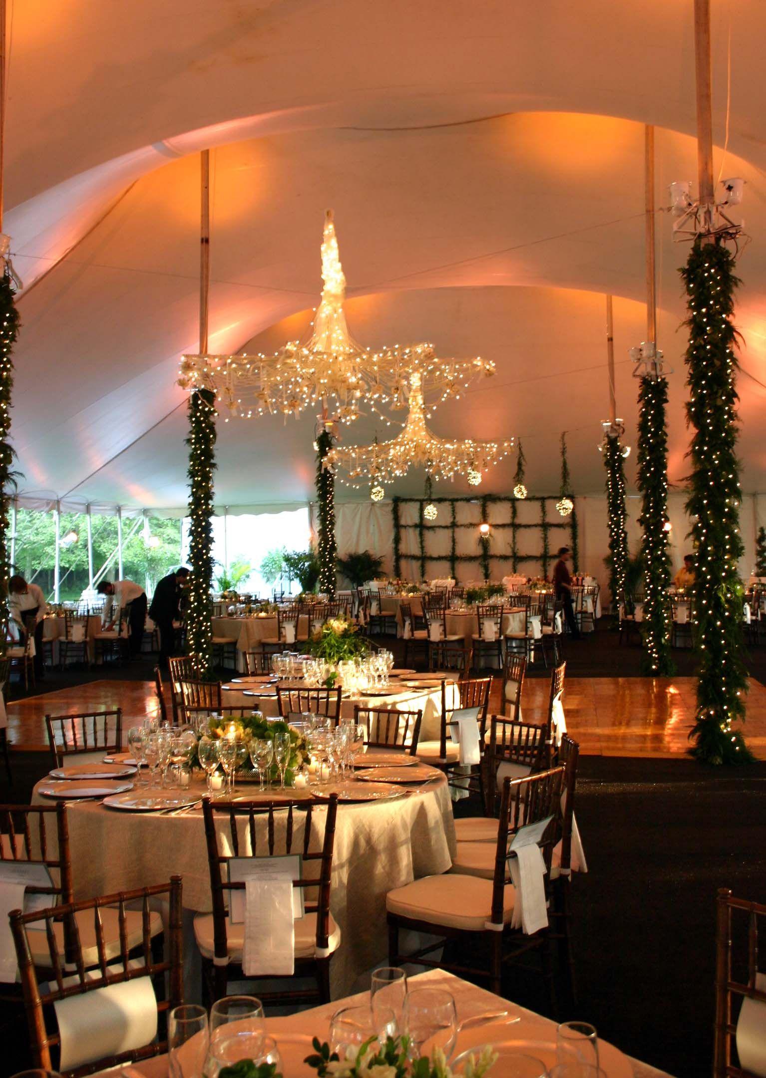 High peak pole tent Tent reception, Wedding decorations