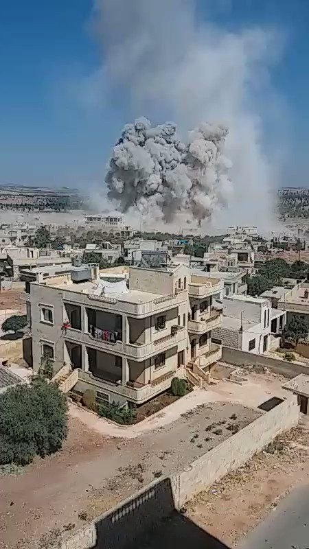 2 hospitals were bombed in Idlib: Rahma, in Khan Shaykhun and Orient in Kafr Nabl