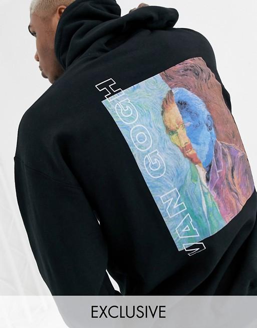 Reclaimed Vintage Oversized Hoodie With Van Gogh Print In Black Asos In 2020 Oversize Hoodie Mens Sweatshirts Hoodie Tech Fleece Hoodie