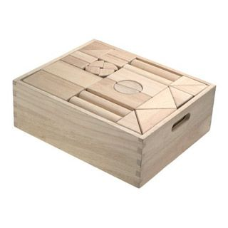 The Wooden Unit Blocks Set Includes U2022 60 BIG SMOOTHLY Sanded Sturdy Blocks  With A Natural Finish For A Classic Looku2022 The Wooden Storage Crate Makes  Clean Up ...