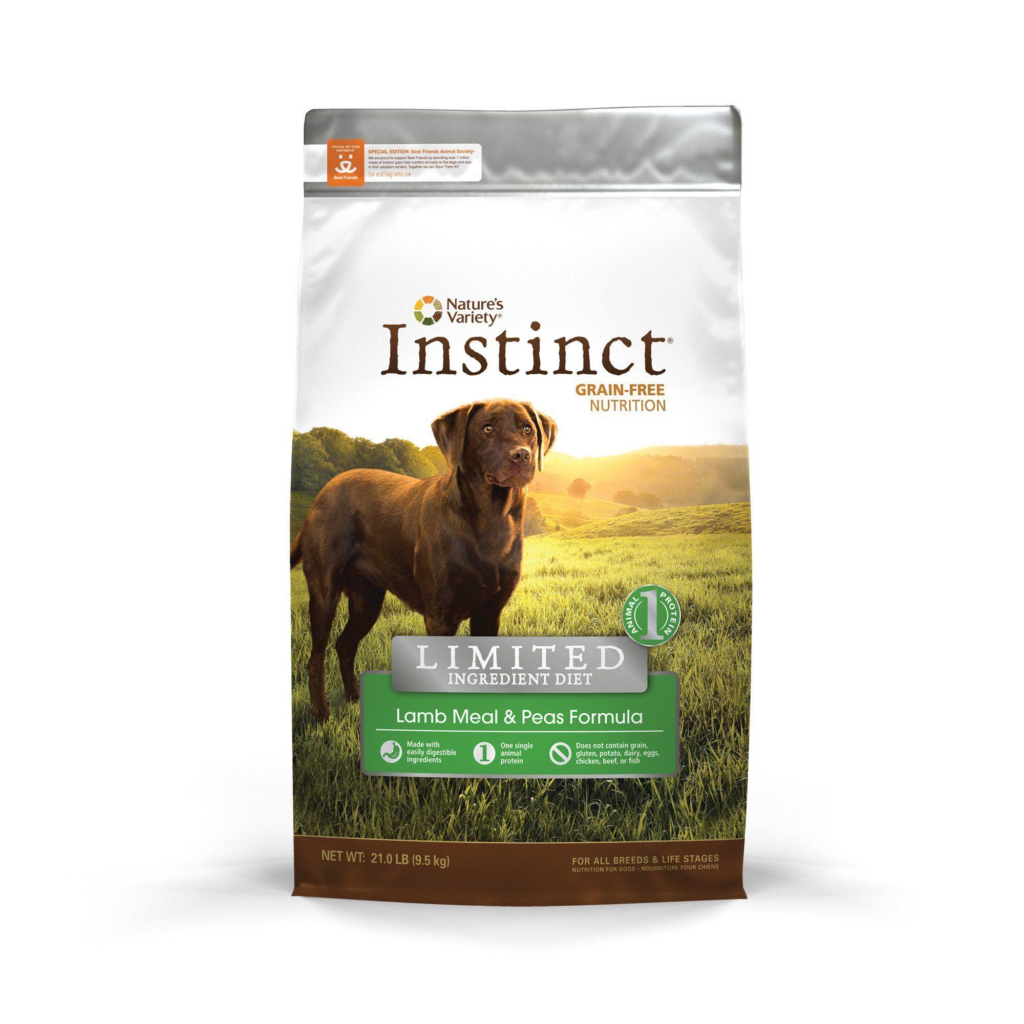 Nature S Variety Instinct Limited Ingredient Diet Lamb Meal Peas