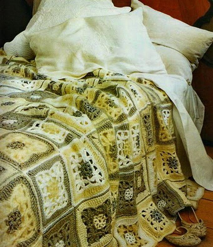 Crochet afghan - Tagesdecke häkeln | Häkeln Decken & Kissen ...