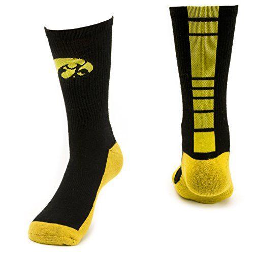 TCK Iowa Hawkeyes Socks Crew Style