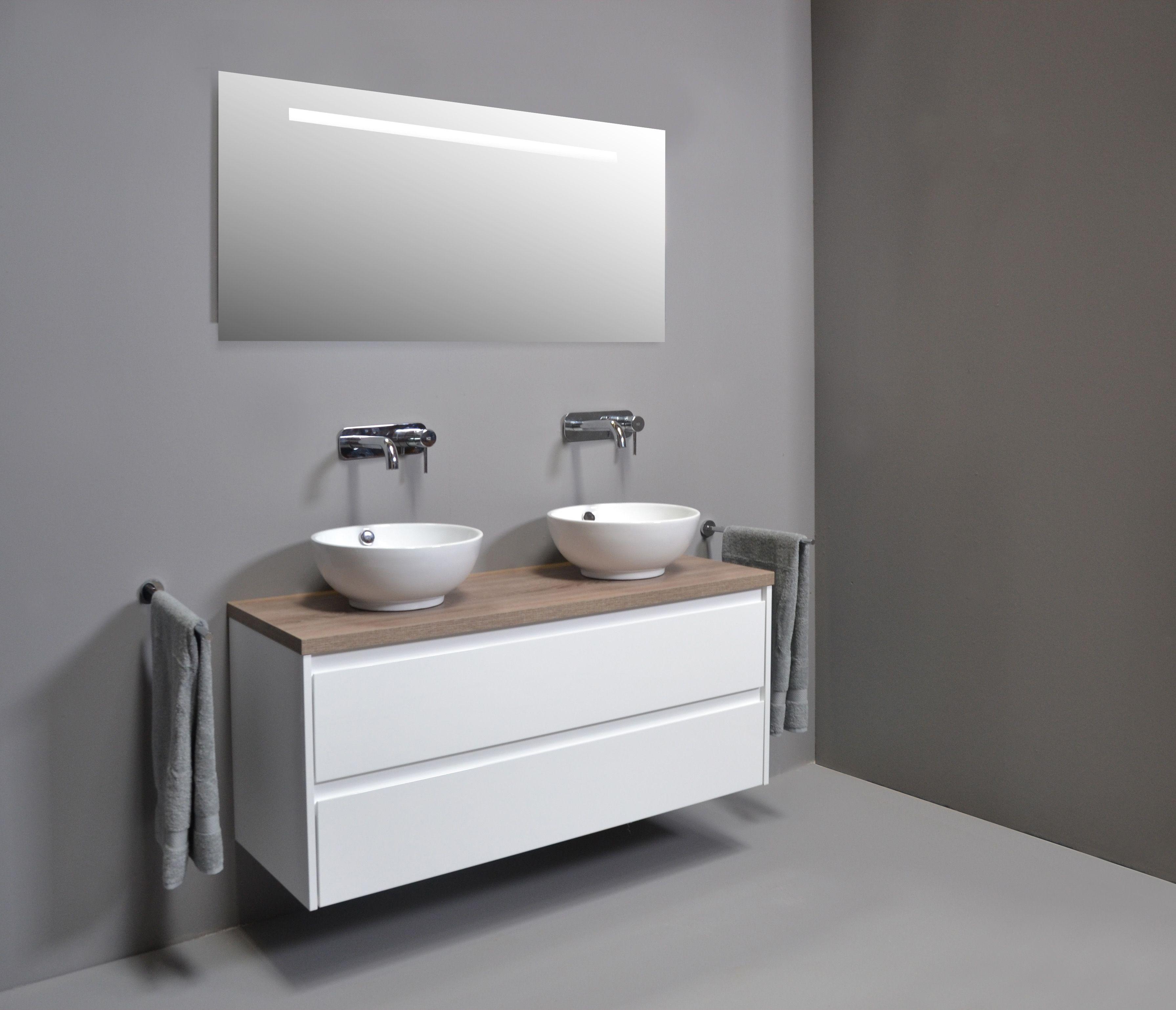 proline opbouw kom porselein hoogglans wit badkamer wastafel