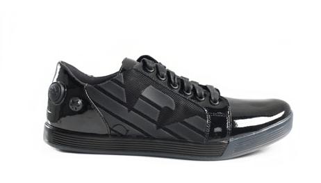 0fb16d87673 EA7 Black patent leather Sneakers