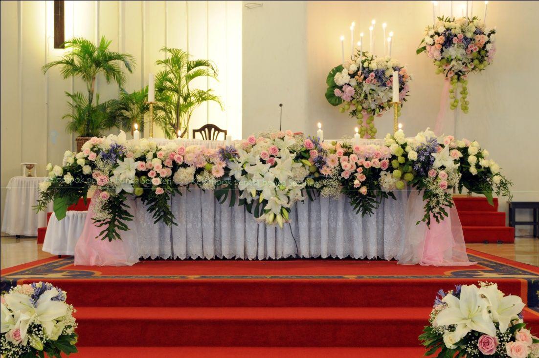 Serafien Perangkai Bunga Liturgis Rangkaian Bunga Bunga Altar Rangkaian bunga altar gereja