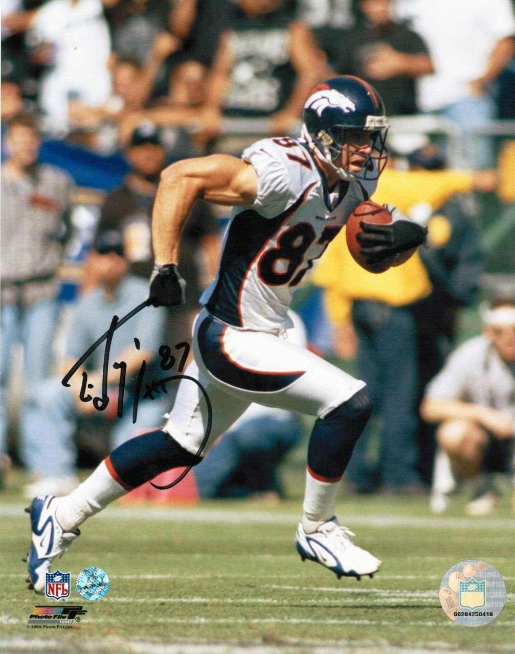 AAA Sports Memorabilia LLC Ed McCaffrey Denver Broncos