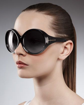f45d3003f5f Ali Oversized Round Sunglasses by Tom Ford at Bergdorf Goodman.