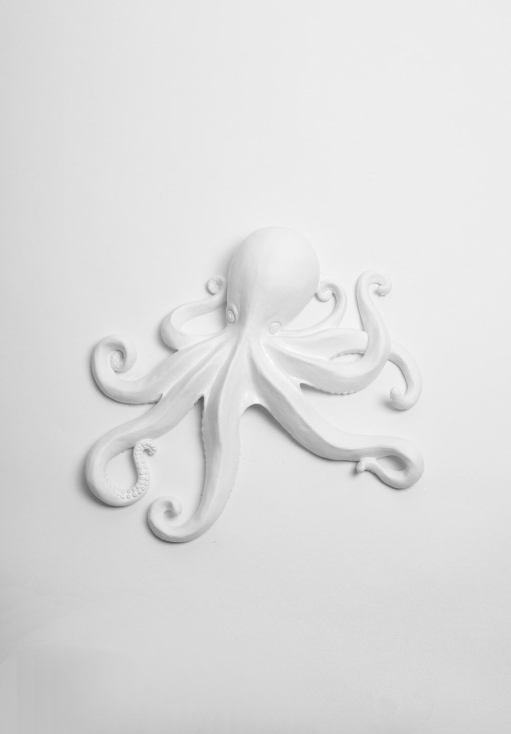 the kraken octopus sculpture in white large white faux octopus