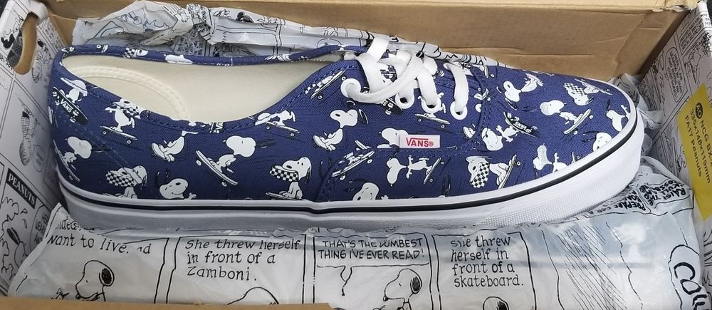 Authentic Vans Skating 12 Fashion Bgxqwy Size Snoopy Men Peanuts Shoes 9IW2YbeEDH