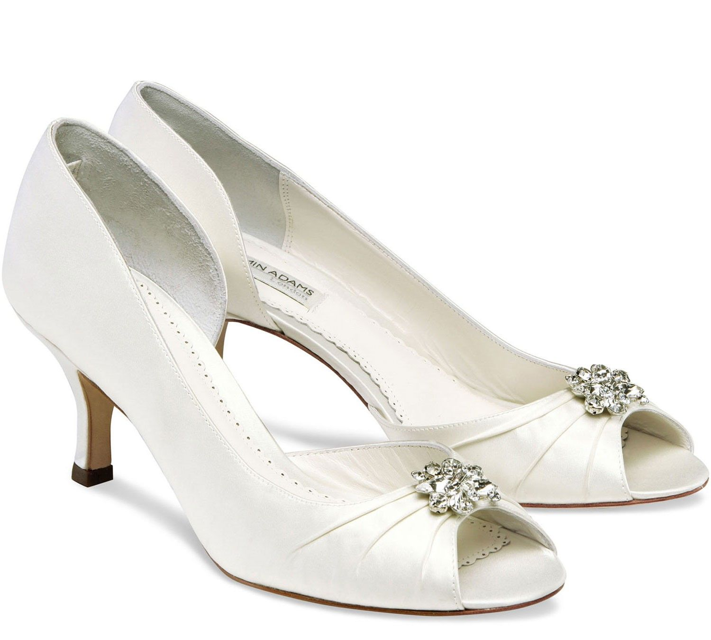 White Benjamin Adams Celine Bridal Shoes Wedding Shoes Heels