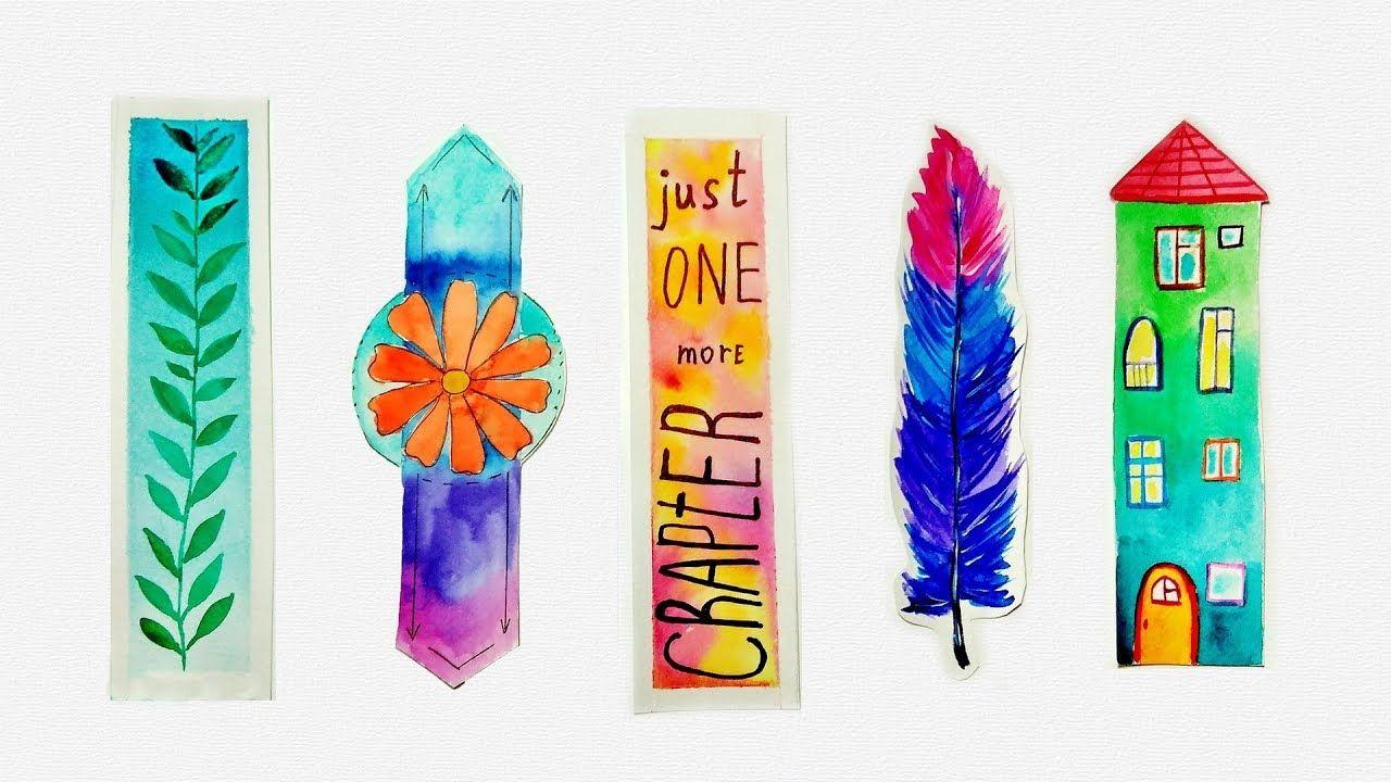 Diy Unique Watercolor Bookmarks Ideas Tutorial For Beginners Watercolor Bookmarks Bookmarks Handmade Watercolor