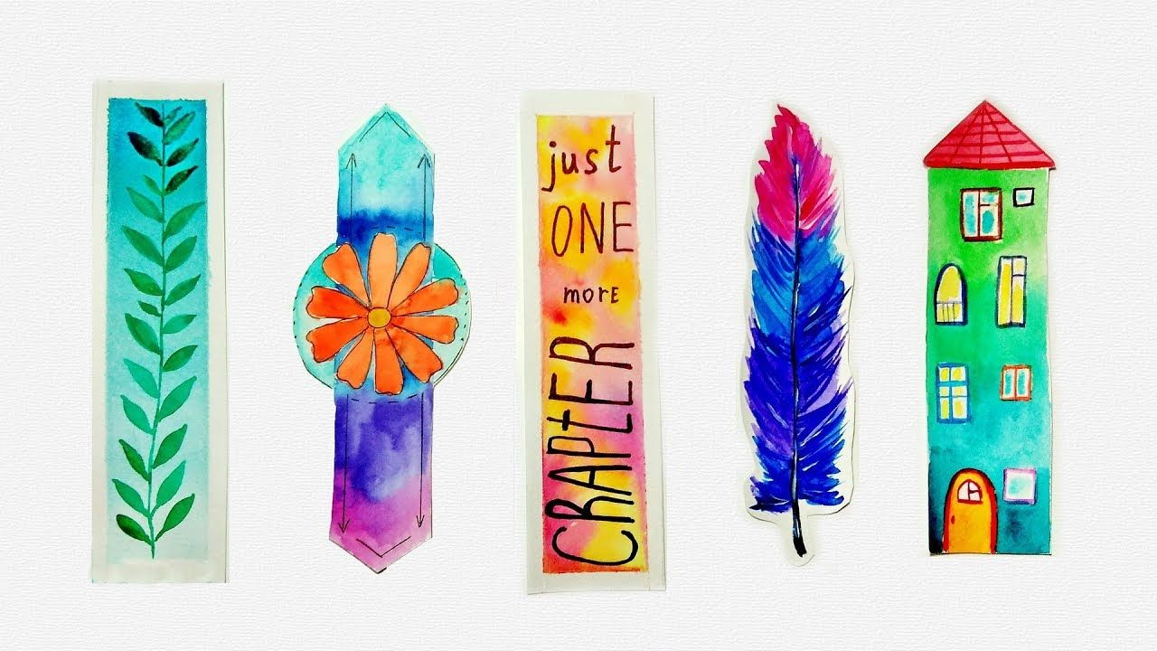 Diy Unique Watercolor Bookmarks Ideas Tutorial For Beginners