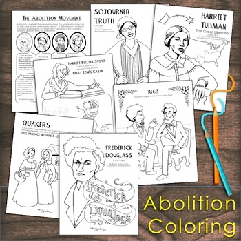 Learn About U S History While Enjoying Some Coloring Seven Coloring Pages Illustrate Factual Information Images Color Educational Illustration Abolitionist