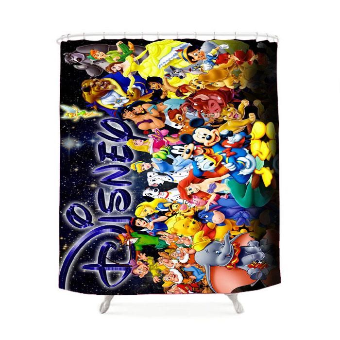 Disney Character Collage Shower Curtain