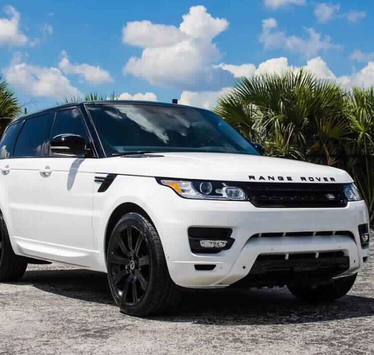 to own a white Range Rover with black rims + tinted