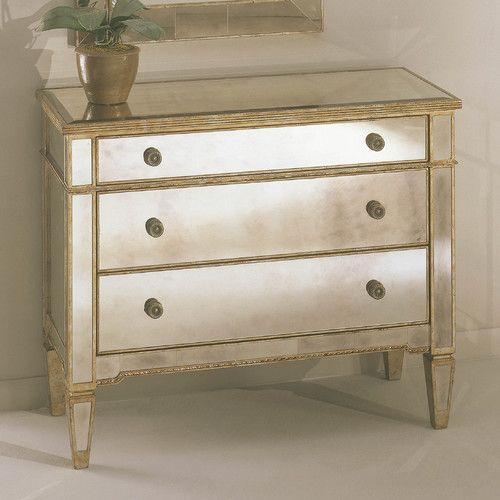 borghese mirrored furniture. Bassett Mirror Borghese Mirrored 3 Drawer Hall Chest Furniture U