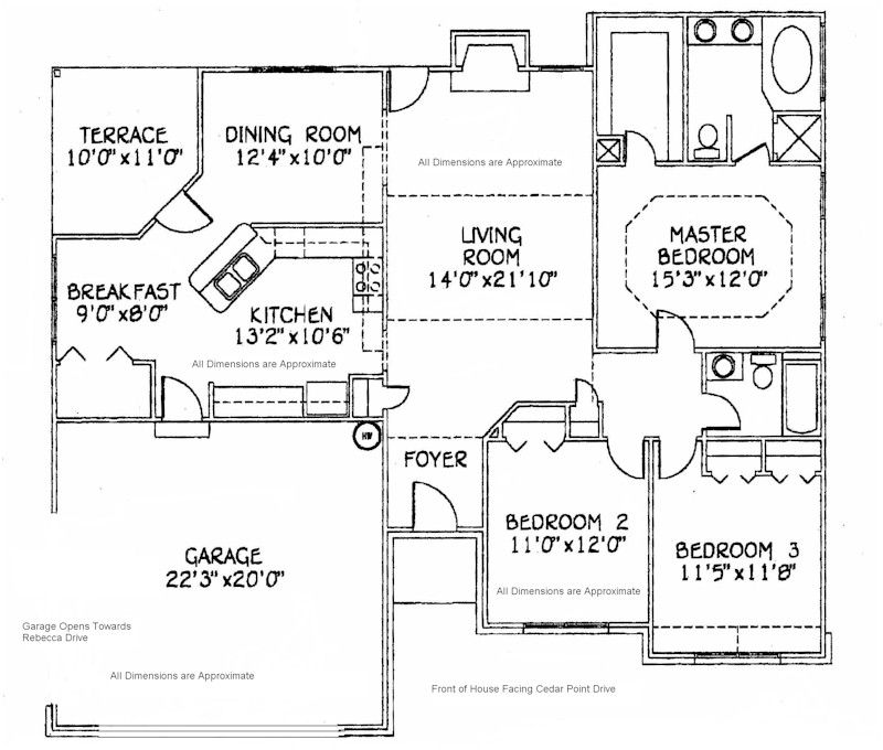 House dimensions approximate dimensions and floor plan for Floor plans dimensions