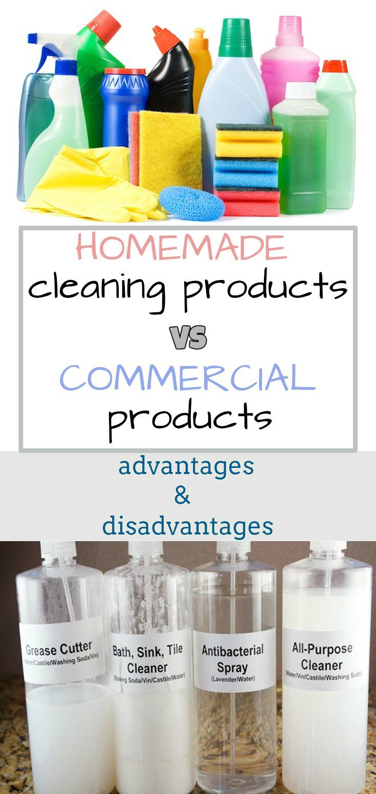 Homemade Cleaning Products Vs Commercial Products Advantages And