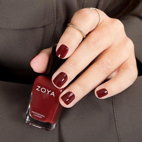 Fall nail polish ideas,dark red nail polish,dark red nails ideas ...