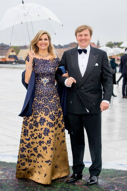 King WillemAlexander and Queen Maxima of The Netherlands arrive at the Opera House on the ocassion of the celebration of King Harald and Queen Sonja...