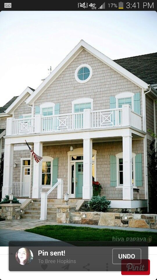 Remarkable Light Grey White House With Teal Shutters Decorating Interior Design Ideas Gresisoteloinfo