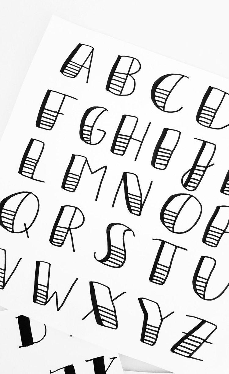 Tipografías fáciles 🙌🏼 | Tutorial de letras, Tipos de