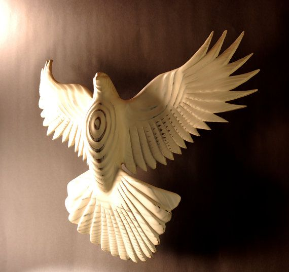 Peace Dove Wood sculpture by Jason Tennant by jasontennant on Etsy, $375.00