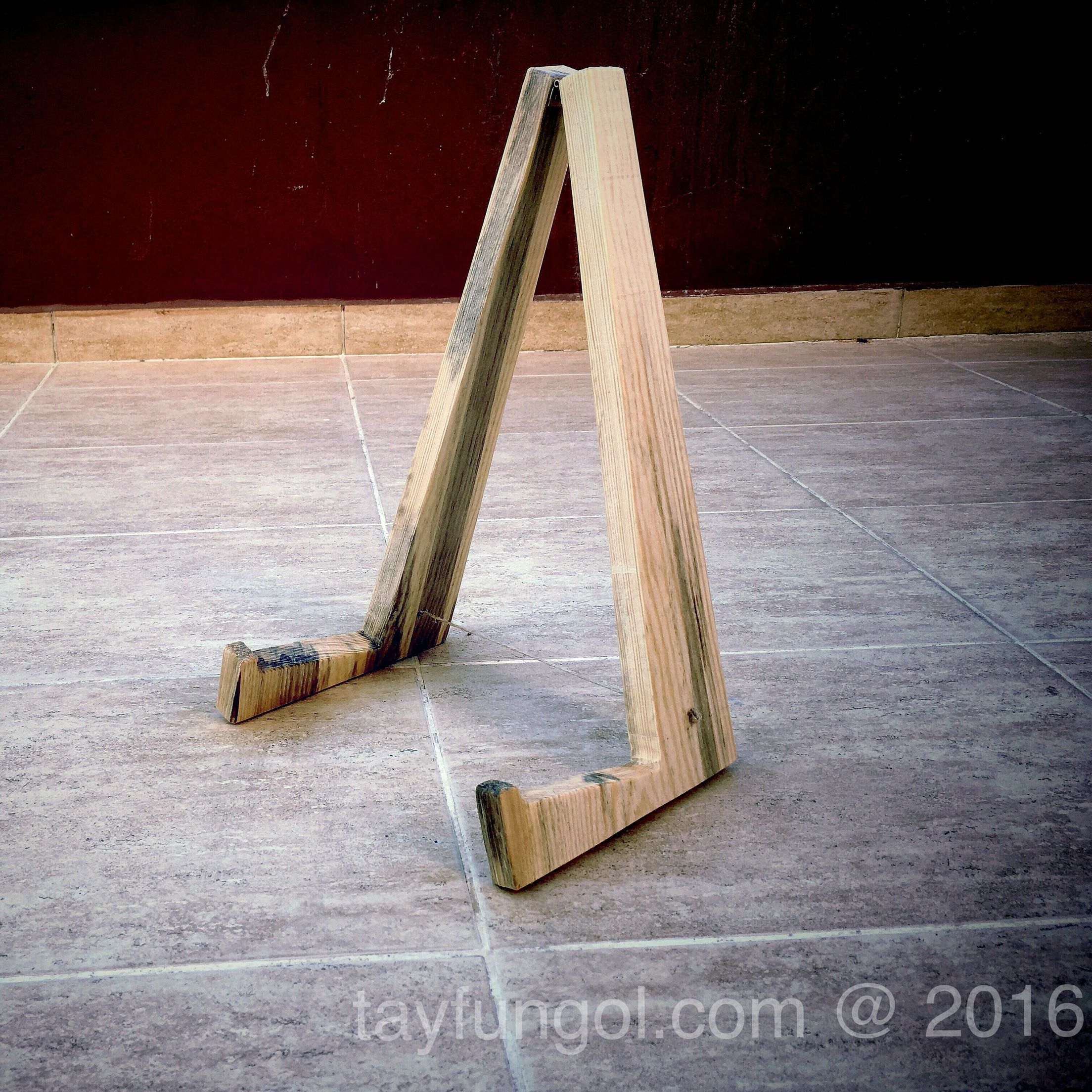 diy wooden folding guitar stand pinteres