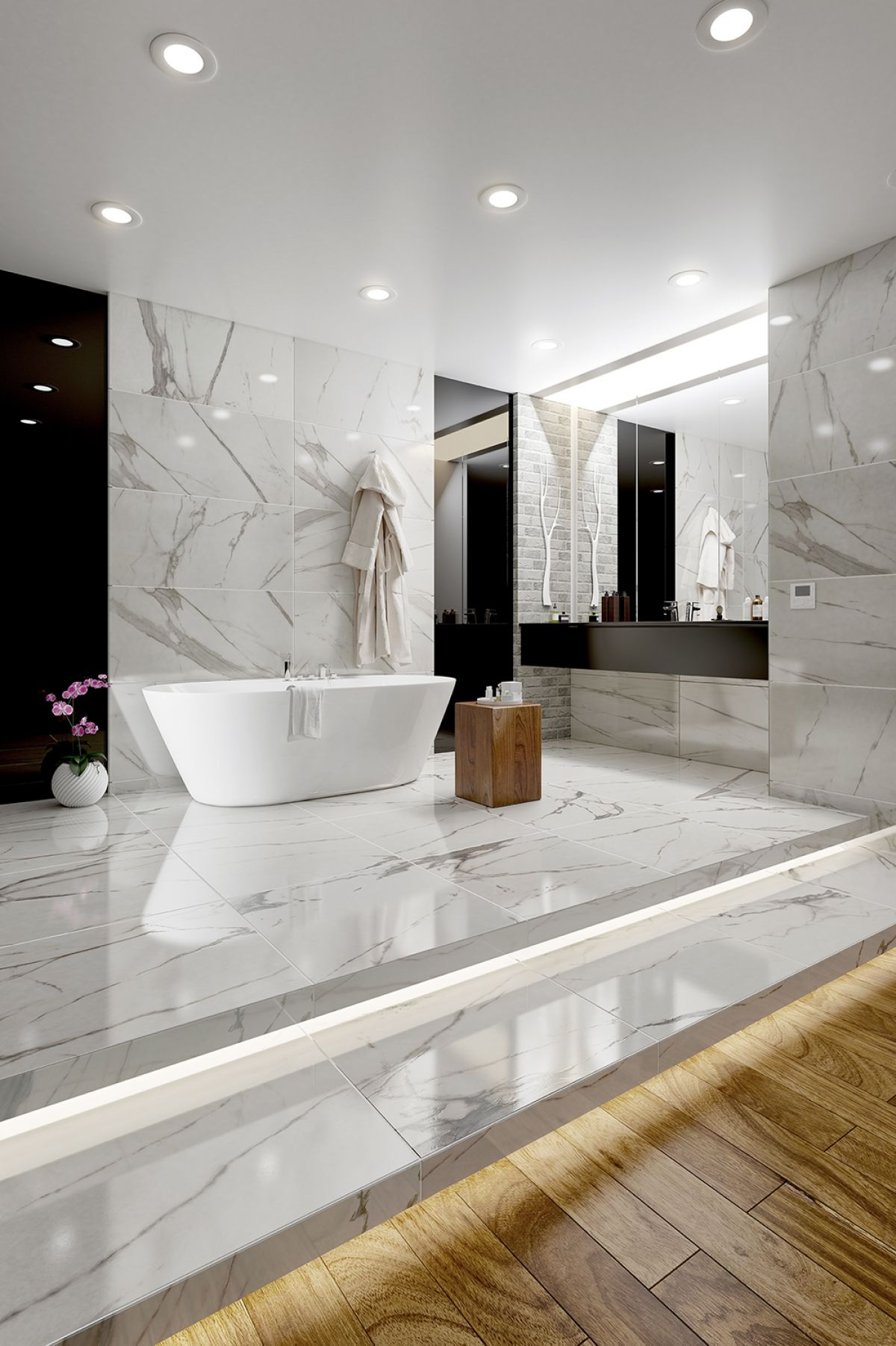 Royal Marble Polished Porcelain Tiles 45 x 90 cm | Yurtbay ...