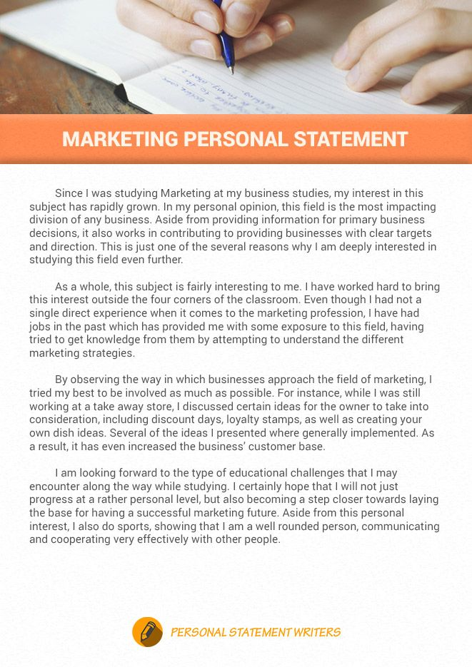 If You Want To Write An Outstanding Marketing Personal Statement