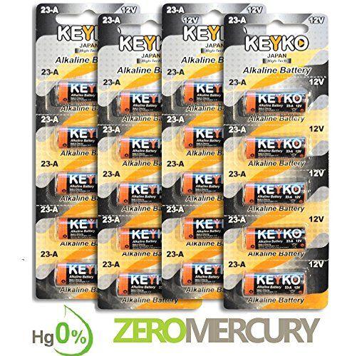 A23 Battery 12v Alkaline Genuine Keyko Kt23a Type A23s Mn21 Gp23ae 20pcspack For Garage Doors Opener Keyless Ent Garage Door Opener Garage Doors Door Opener