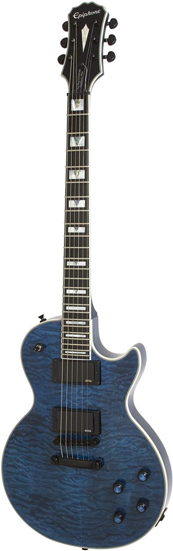 Guitare Electrique Midnight Sapphire En 2020 Les Paul Custom Guitare Electrique Guitare