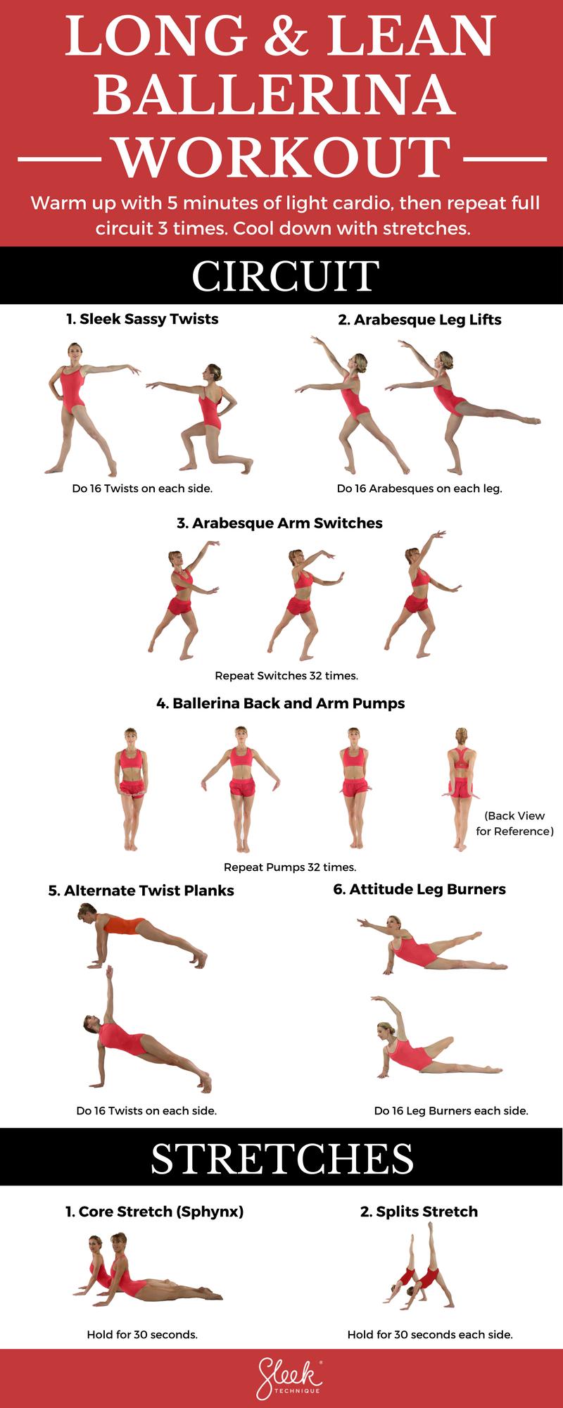 Long amp; Lean Ballerina Body Workout #infographic #ballet #workout #sleektechnique #fitness #fitmom...