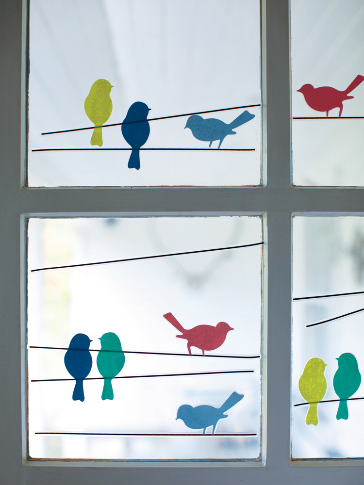 Bird window stickers kids love to decorate their rooms and this is something that they can get excited about 10 little plastic birds stickers in