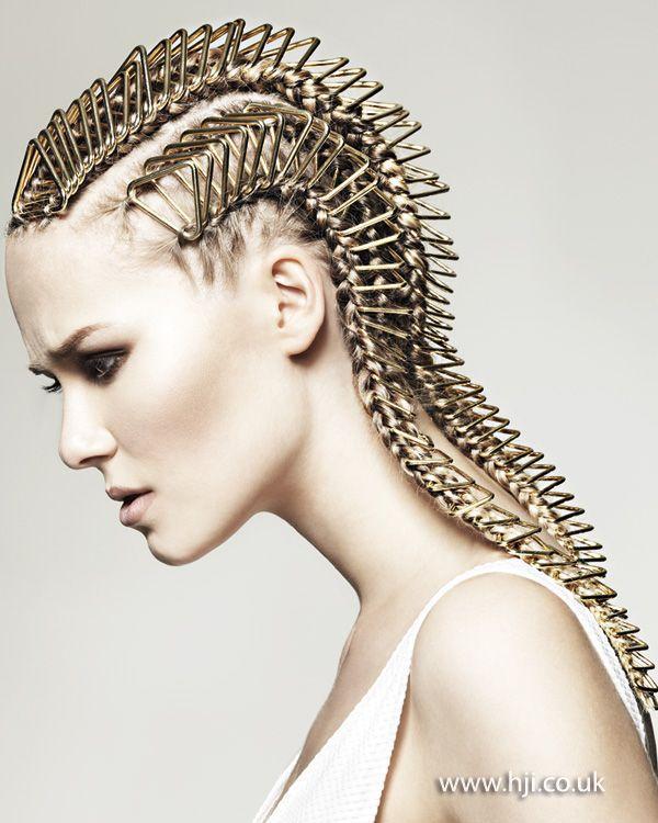 Heavy Metal Cornrows Fantasy Hair Editorial Hair Artistic Hair