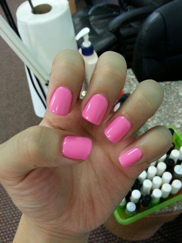 No-chip Manicure #gel #pink #polish #pretty #cute #nailpolish #shiny ...