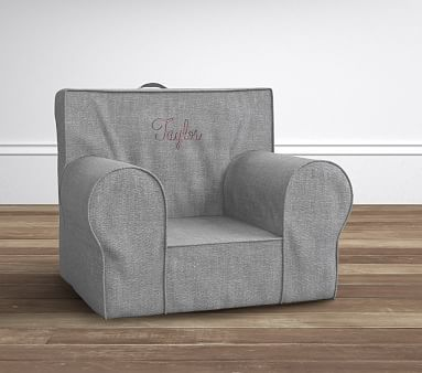 Pleasing Charcoal Washed Grainsack Oversized Anywhere Chair Pottery Beatyapartments Chair Design Images Beatyapartmentscom